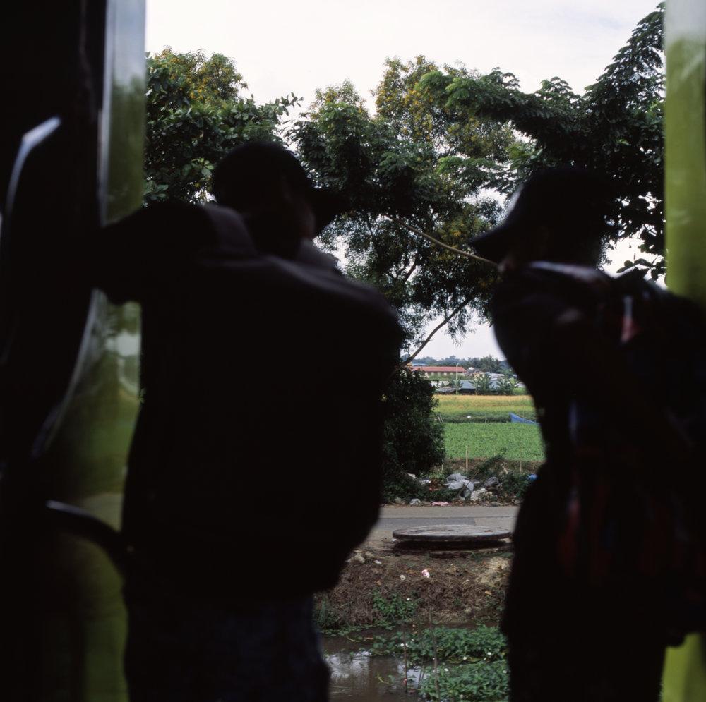 School kids on the train Hasselblad 501cm | Fuji Provia 100f