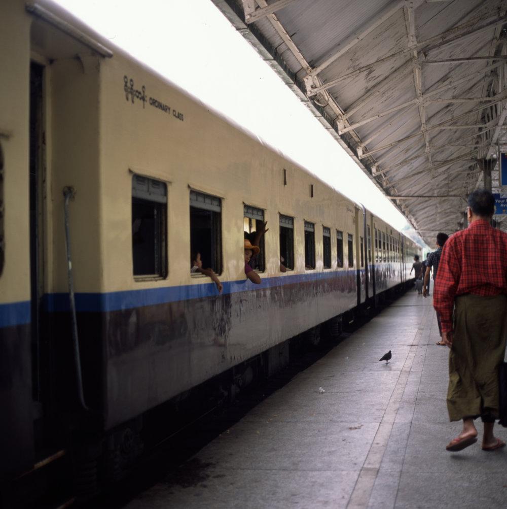 Our train to Bagan Hasselblad 501cm | Fuji Provia 100f