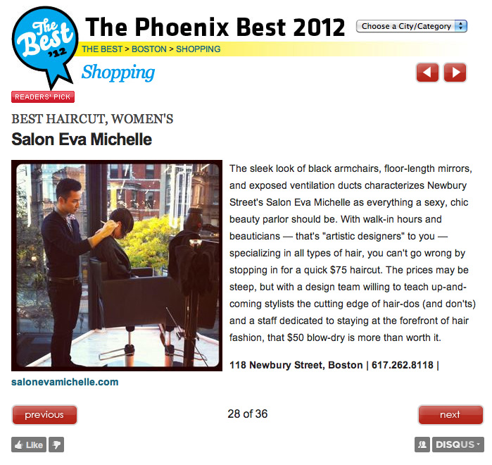 The Phoenix Best 2012 Award