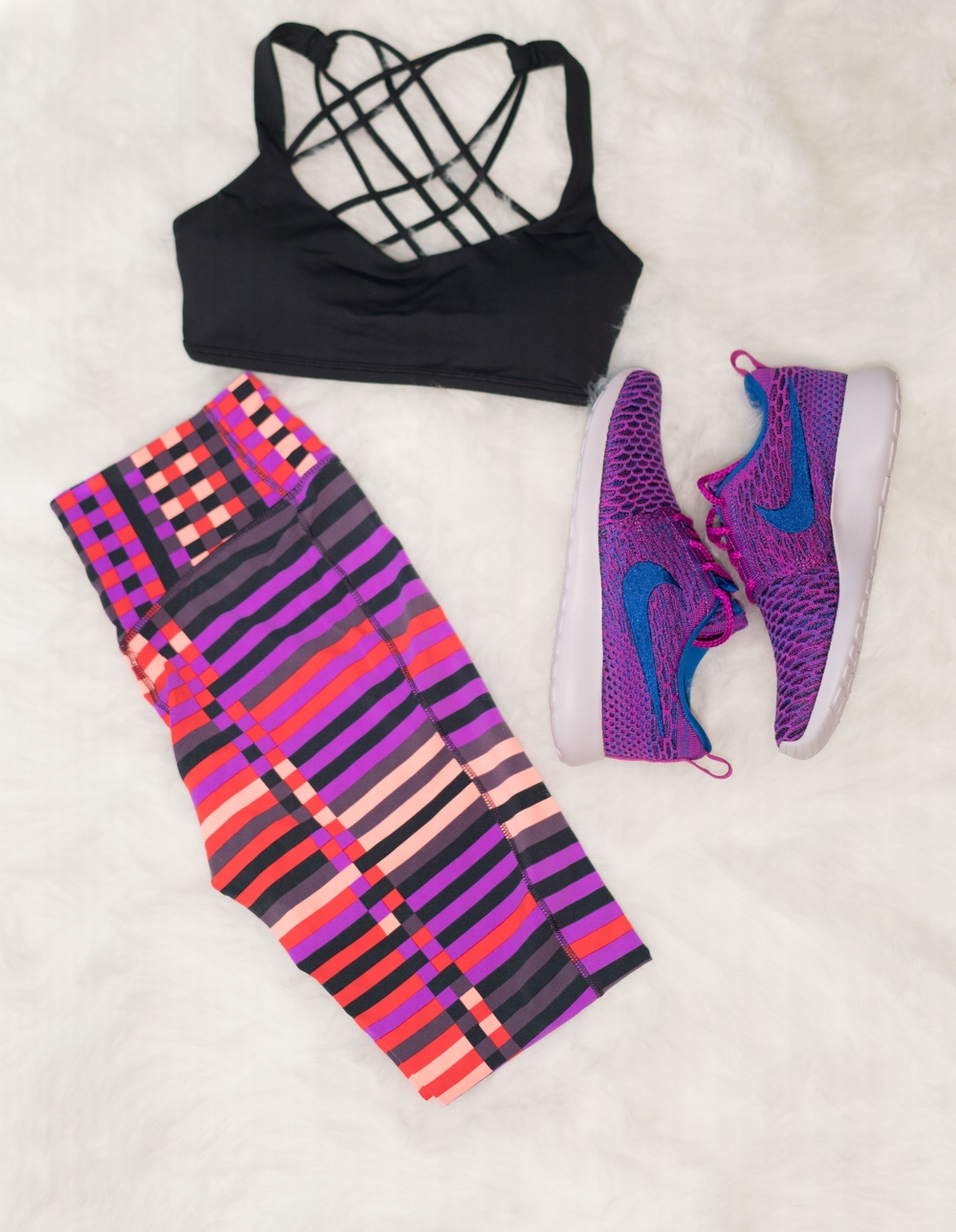 Tights:  Nike  Shoes:  Nike Sports Bra:  Lululemon