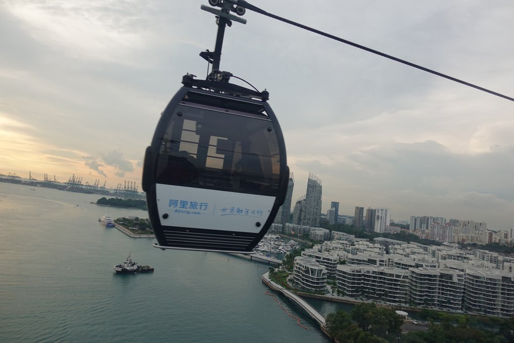 Cable Car Ride in Sentosa