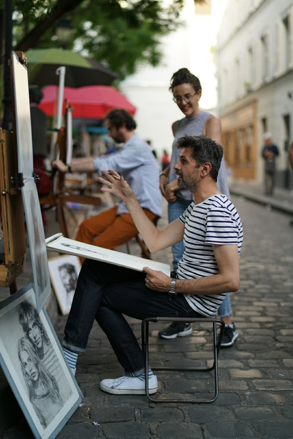 Artists near Sacre Coeur