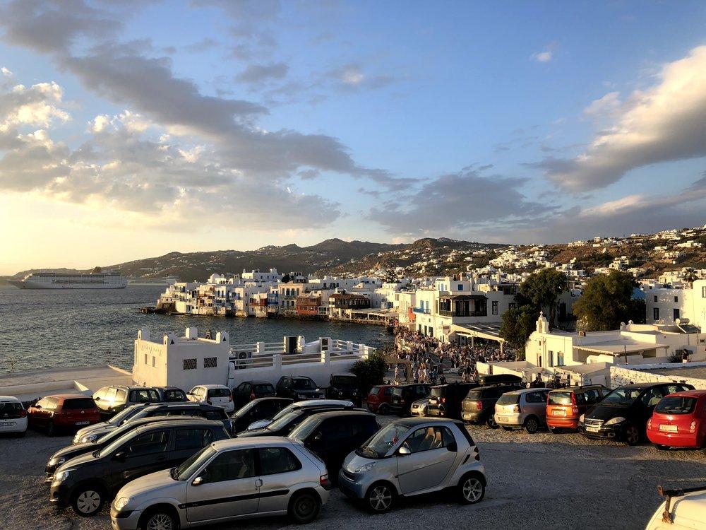 Downtown Mykonos (taken from windmills)