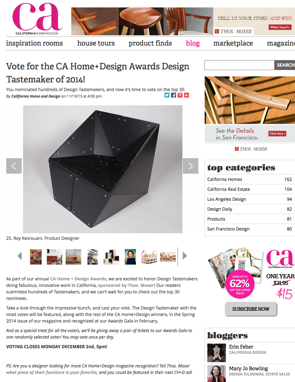 featured: CA Home+Design Awards Design Tastemaker of 2014 ...