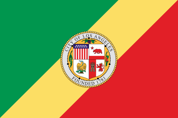 WRONG! This is the national flag of the Republic of the Congo, with the addition of the LA seal.