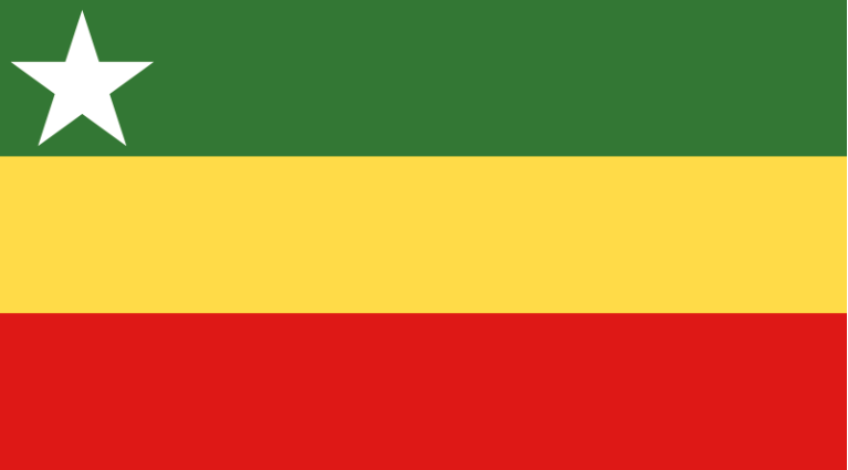 NOT QUITE! This is a new design proposed for the national flag of Myanmar in 2006.