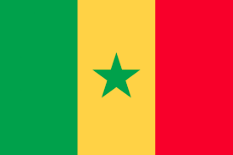 TRY AGAIN! This is Sengal, Africa. The green star is kinda nice.