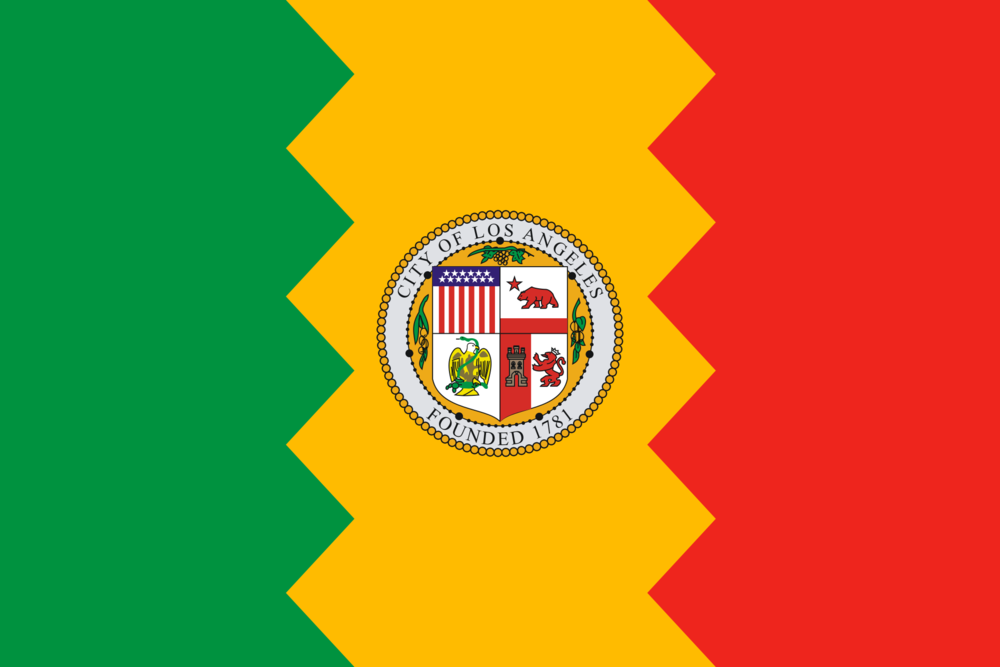 The current flag of Los Angeles. Have you seen it?