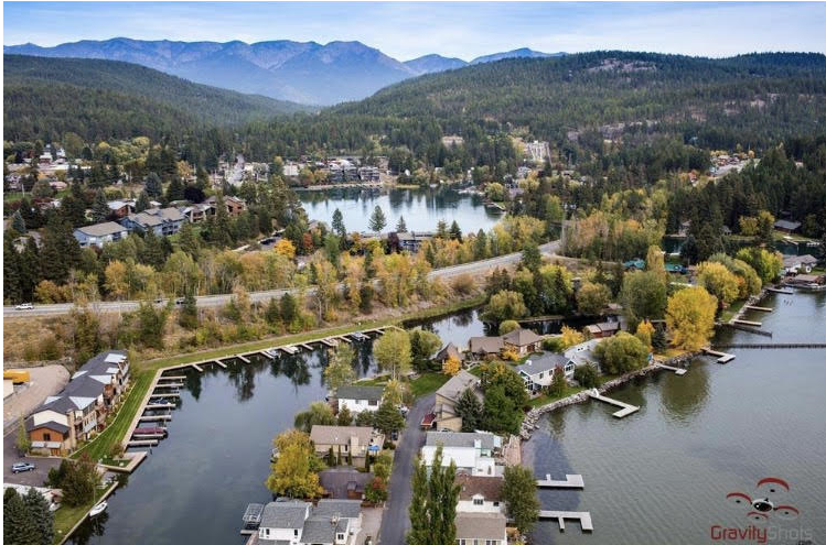 Aerial view of bigfork - courtesy gravit shots