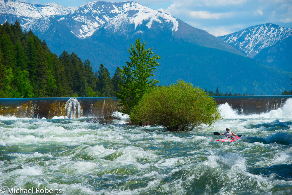 "Kayaking the ""wild Mile"" During the annual Bigfork Whitewater FEstival"
