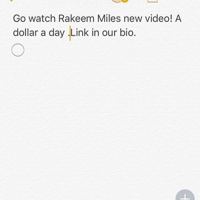 Watch the video! ❗️#adollaraday #RAKEEMMILES #IMPERIALMUSICGROUP #spotify #applemusic #googleplay