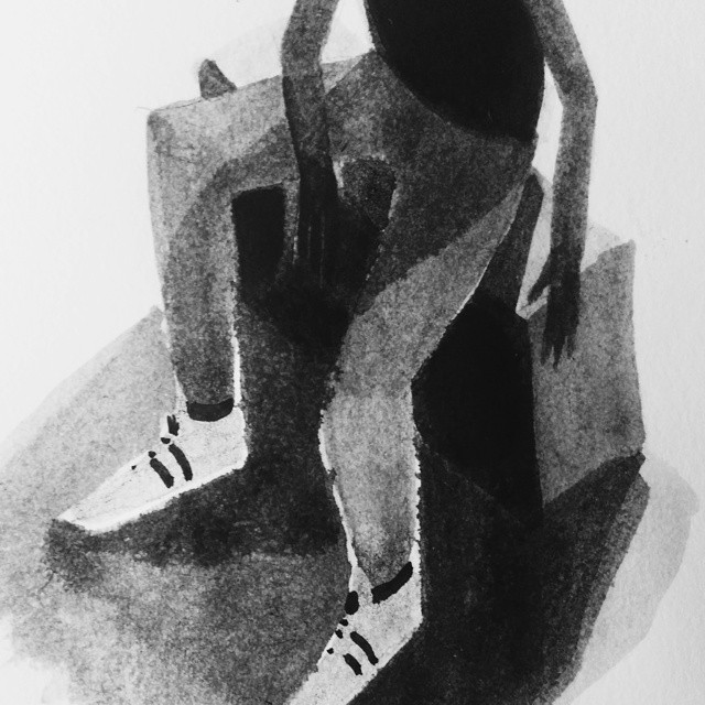 I guess I really want new sneakers. #illustration #blackandwhite #sketchbook #ink #adidas