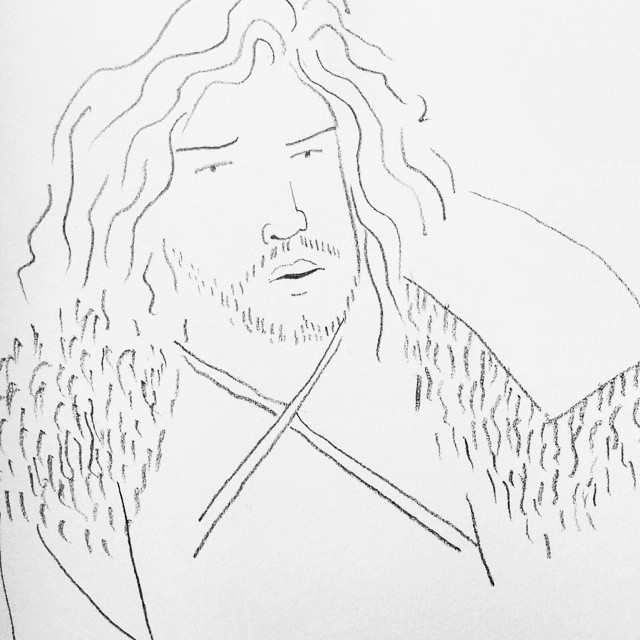 Can't wait for tonight's #gameofthrones episode! #illustration #blackandwhite #pencil #sketchbook #jonsnow