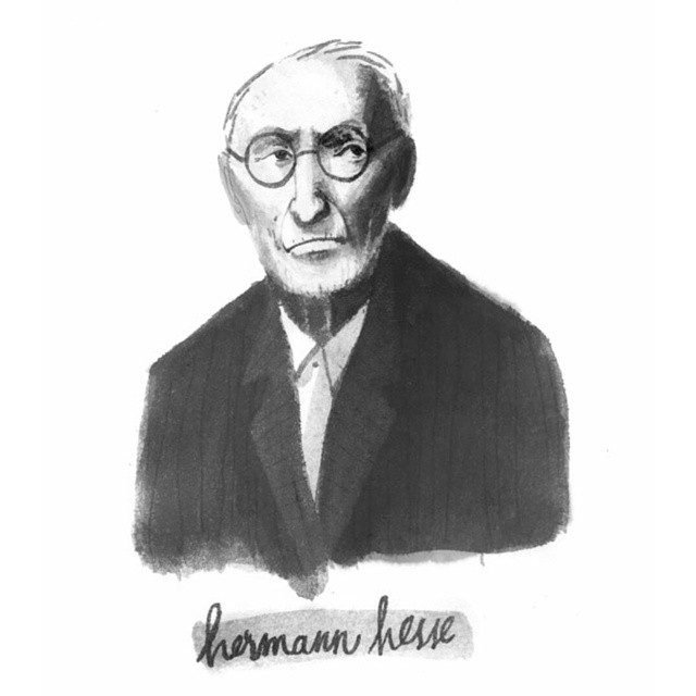 Tiny portrait of Hermann Hesse. #illustration #blackandwhite #sketchbook #ink #hermannhesse