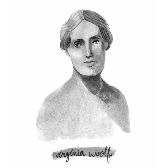 Oh, Virginia Woolf. #illustration #blackandwhite #ink #virginiawoolf
