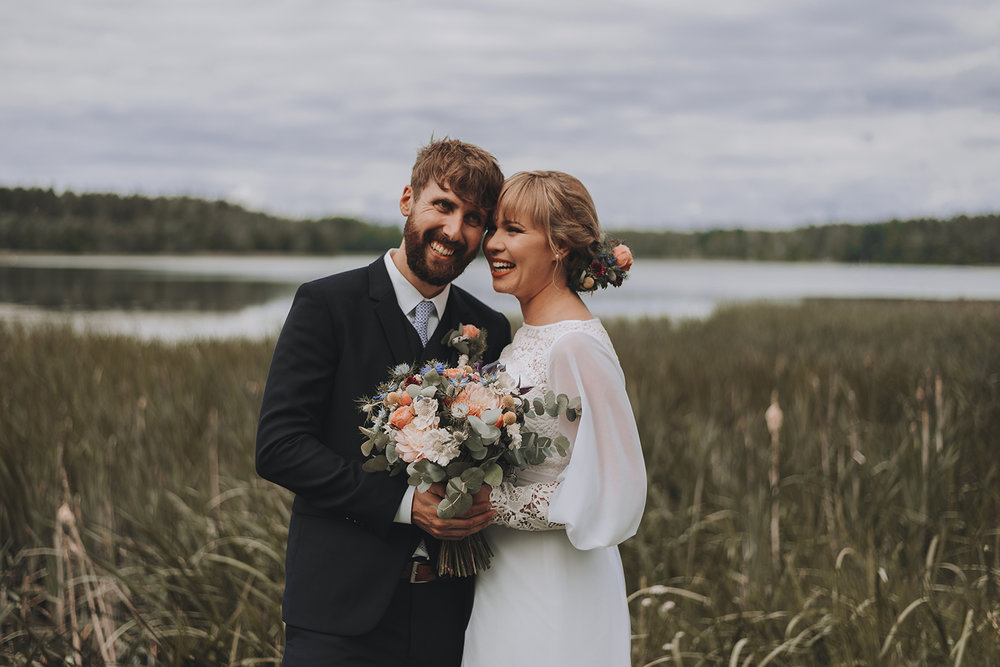 A romantic countryside wedding in Sweden photographed by Seos Photography.