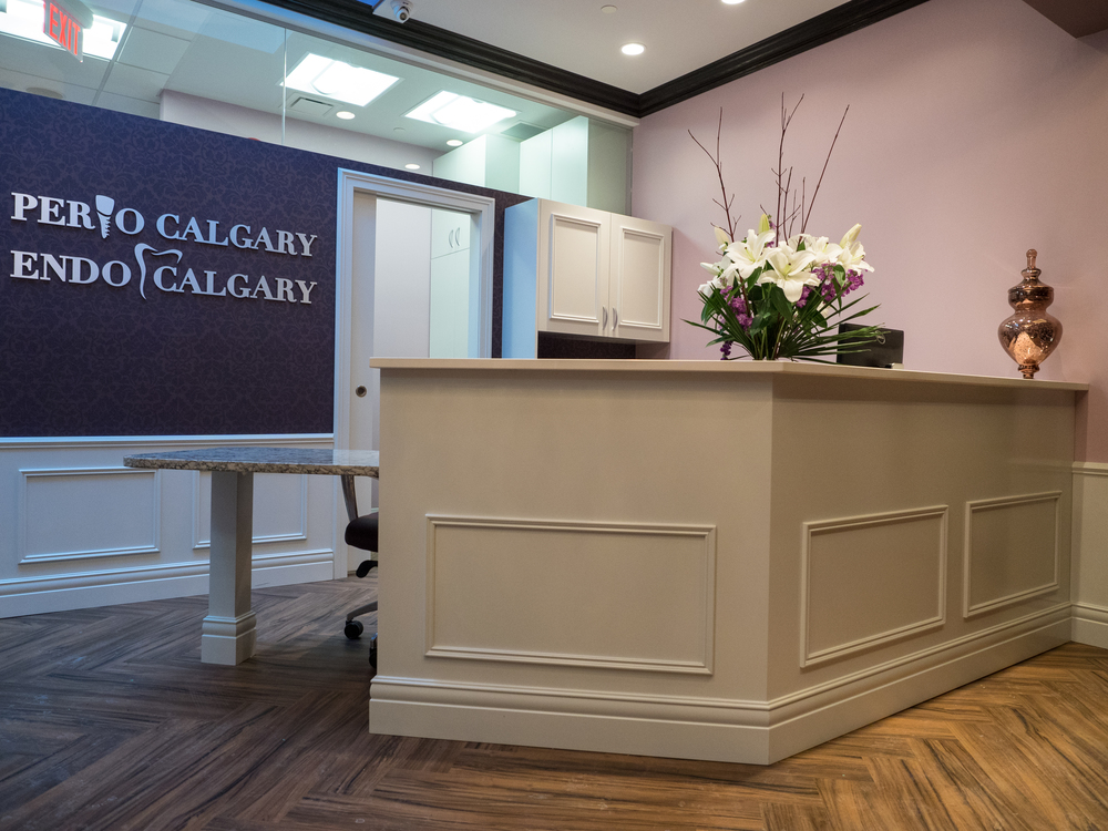 Reception Desk at EndoPerio Calgary
