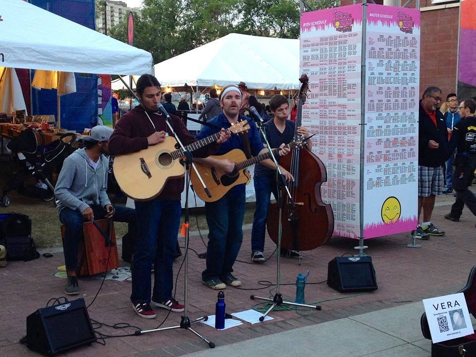vera officially busking at the 2014 Edmonton Fringe Festival