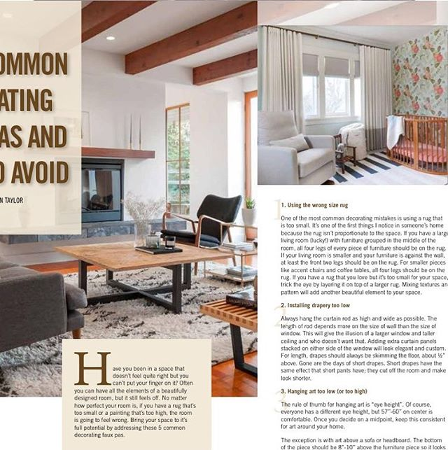 Thank You Your Magazine Yyj For Publishing Our Article On Common Decorating Mistakes And How To Avoid