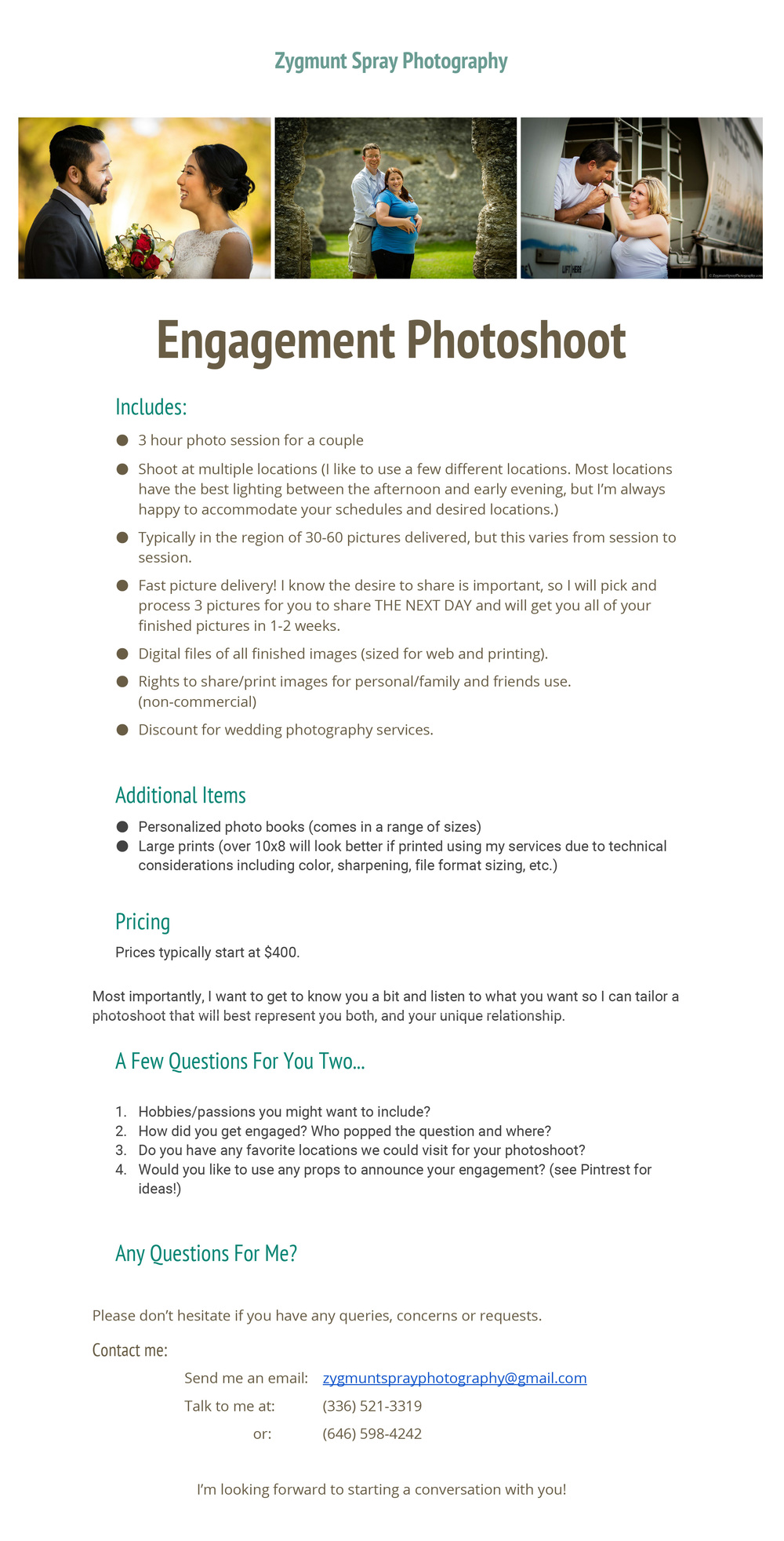 Information Sheet for Engagement Photoshoot - Zygmunt Spray Photography.jpg