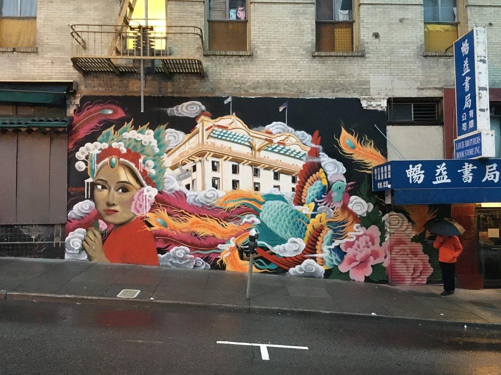 SF Chinatown - Washington Street at Grant Street. Commissioned by the San Francisco Arts Commission, 2015.