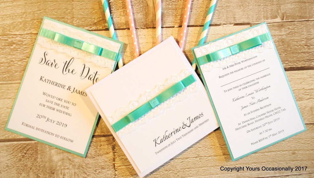 Wedding Stationery Invitations - Yours Occasionally