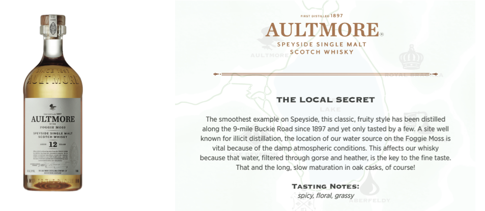 AULTMORE 12- $79.95