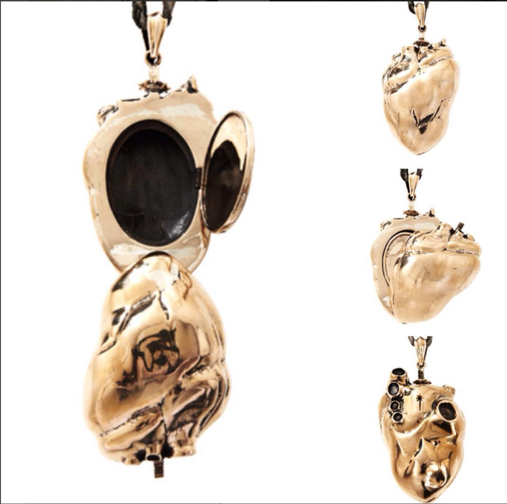 Ludevine COEURAGE HEART KEEPSAKE LOCKET IN BRONZE