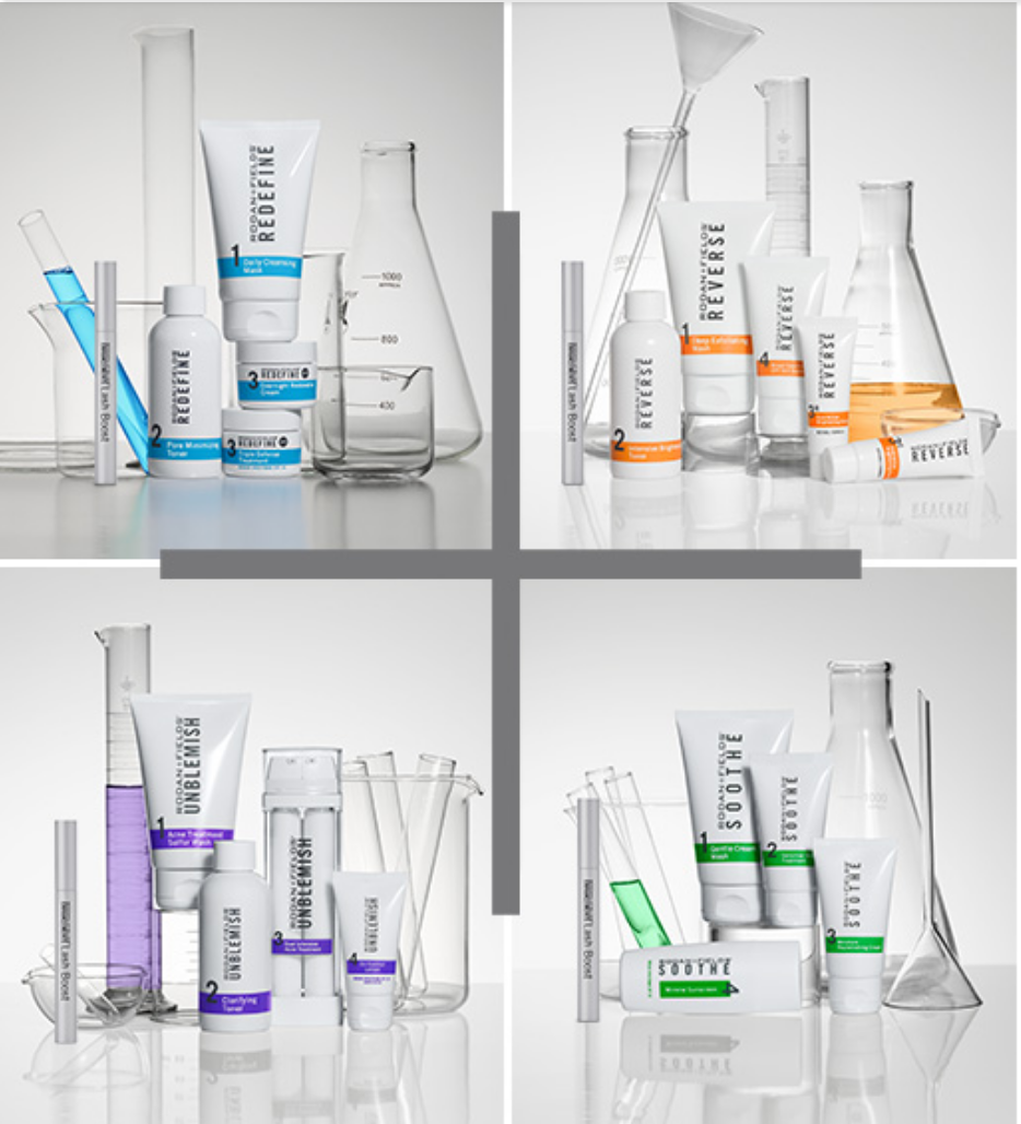Rodan + Fields - 4 Step Skincare Lines: Redefine, Reverse, Unblemish, Smoothe