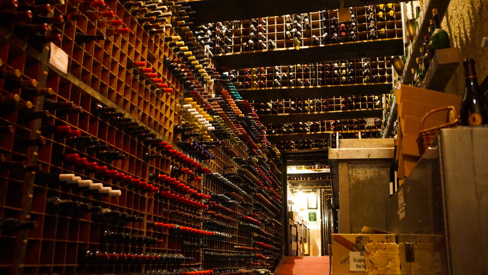 Wine Cellar at Berns Steak house in Tampa bay Florida