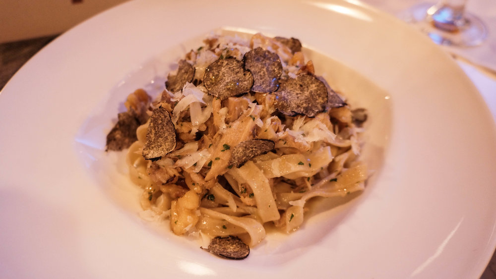 Pasta with Truffles at Haven in Tampa Bay Florida