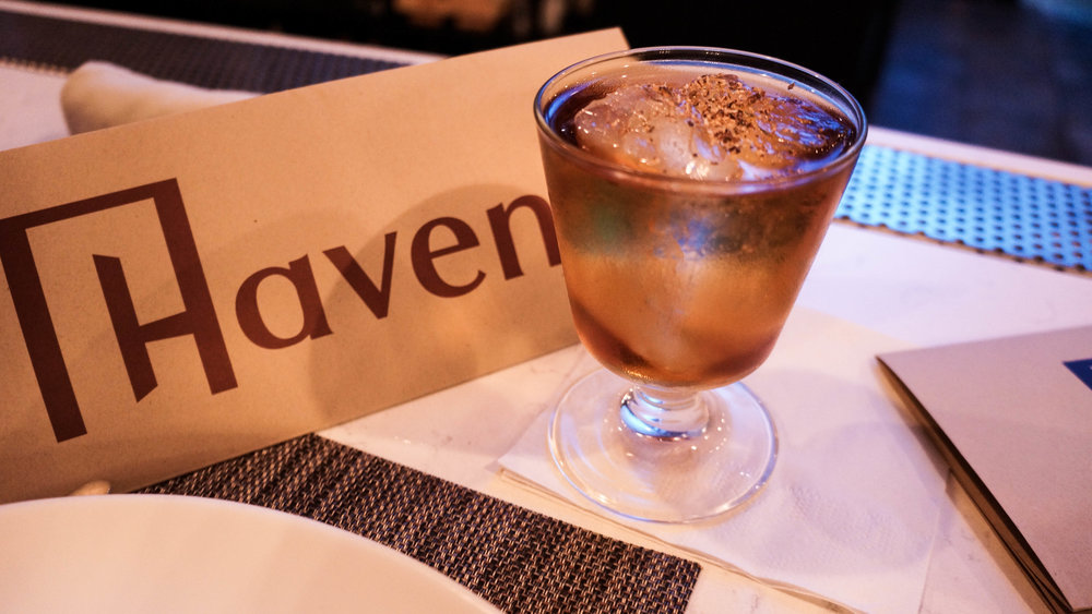 Cocktail from Haven in Tampa Bay Florida