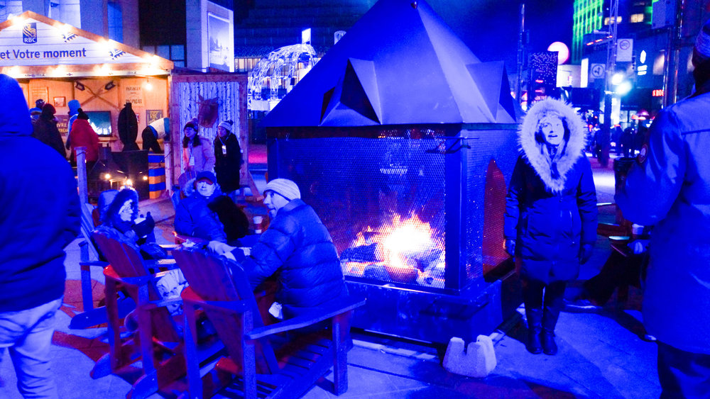 Fire Pits in Quartier Des Spectacles