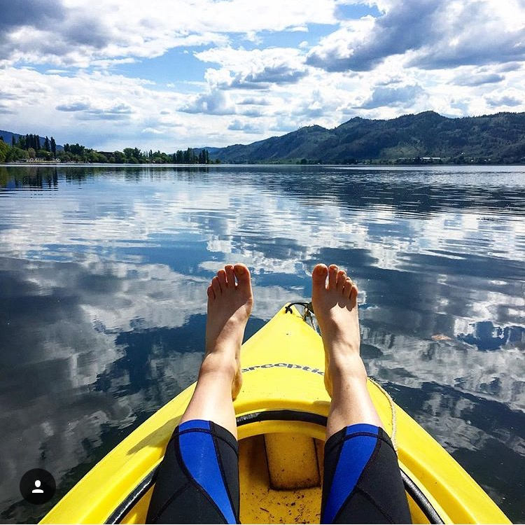 Kayaking on Lake Osoyoos