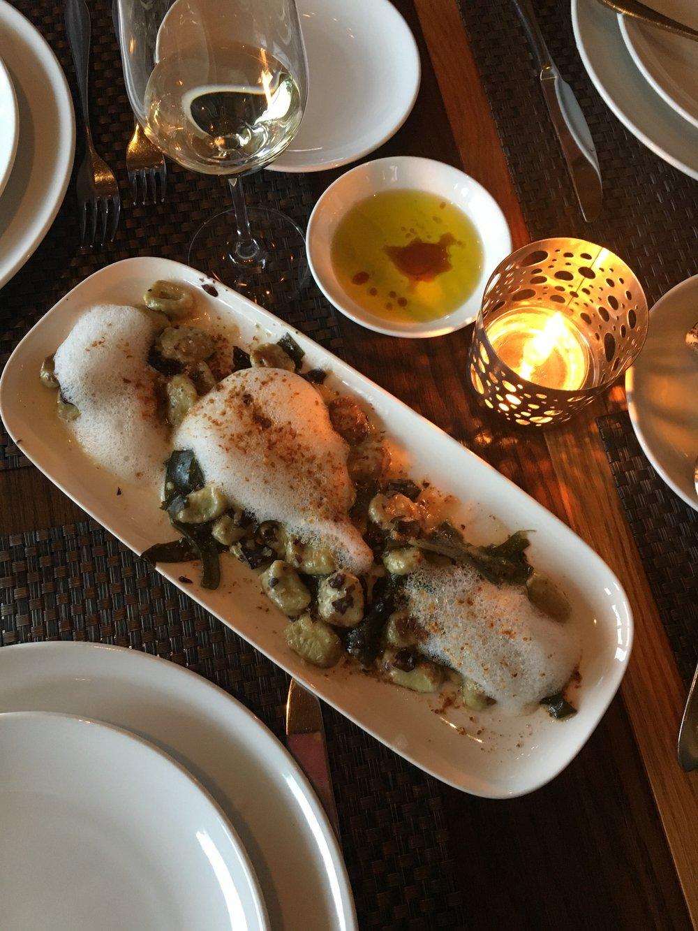Oyster Foam Gnocchi from Miradoro