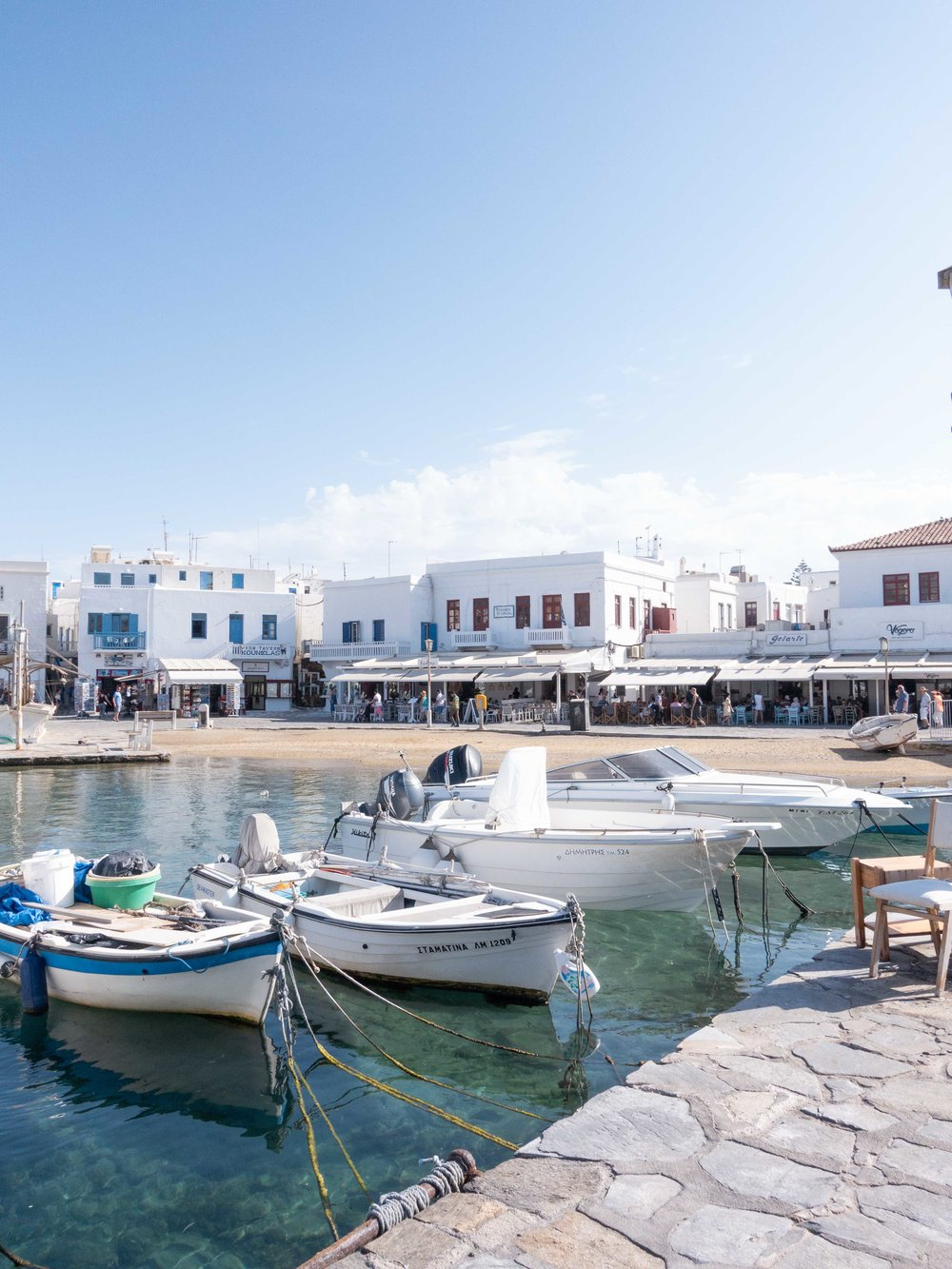 Boats in the harbour - Mykonos Old Town