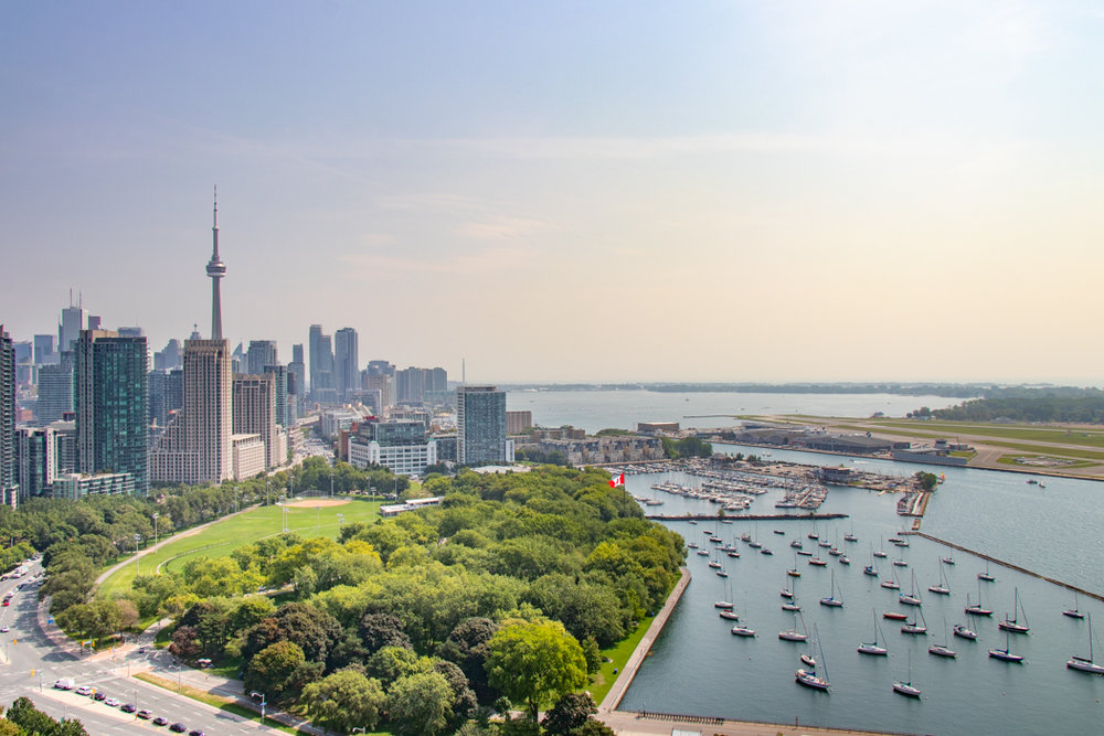 Toronto Skyline from Hotel X Toronto