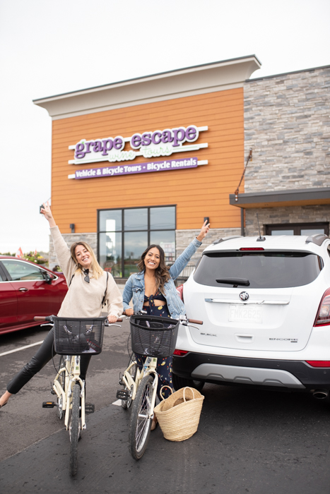 Krystle and I got our bikes from Grape Escape! They were so great!