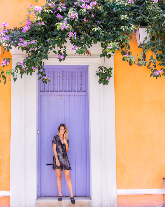 One of the many beautiful door ways in Cartagena, Colombia