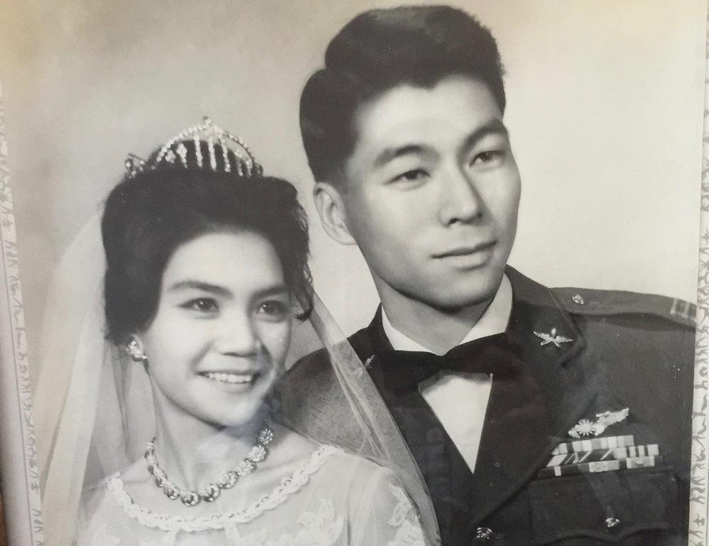 周愚結婚照,1962年攝於台北