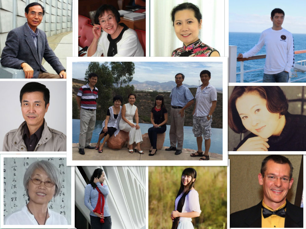 第一届理事会成员与创会主席李岘和荣誉主席张雅文(2015--2017)