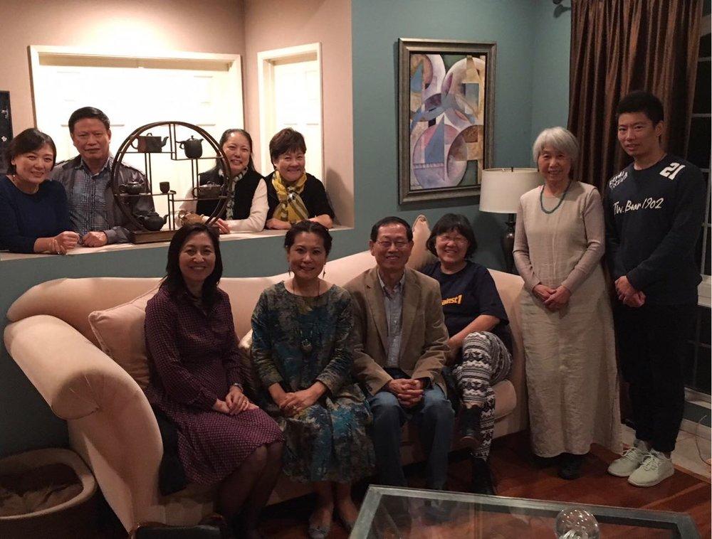 前排左起:左起:曾晓文、李岘、谭瑞钦、马平、赵燕冬、胡亚楠、  后排左起:李丹、廖中强、郭俊丽、许晓妮