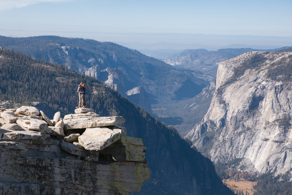 Half Dome Proposal - Carrying a big rock up a big rock