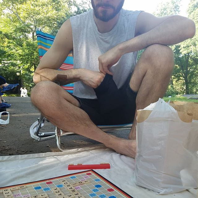 This fool thinks he's about to beat me in Scrabble...
