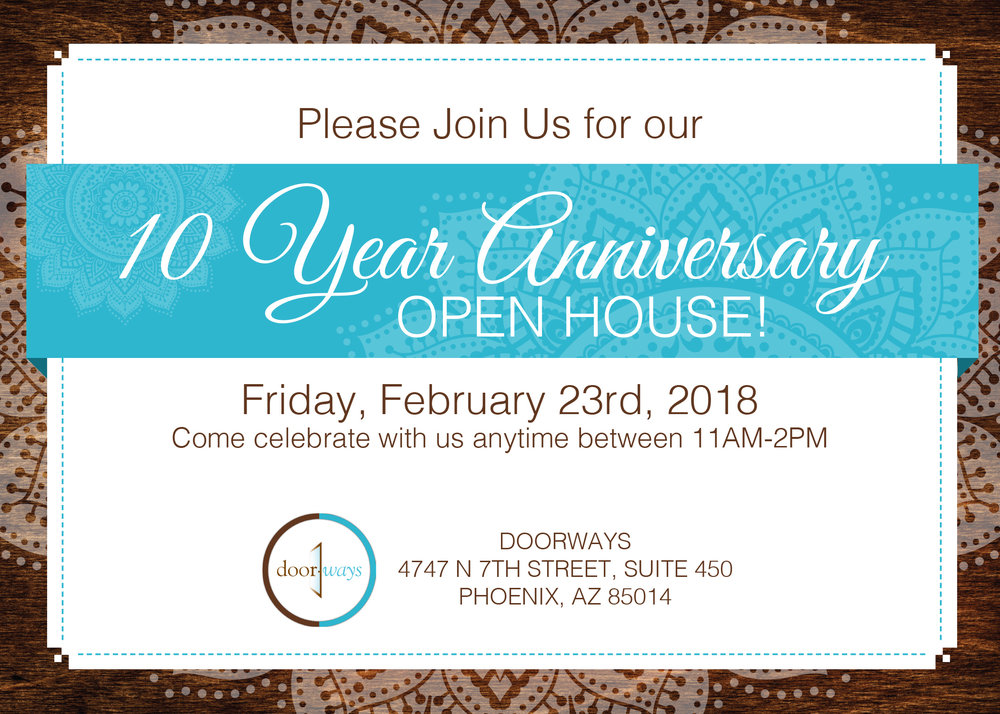 Anniversary Open House Mailer