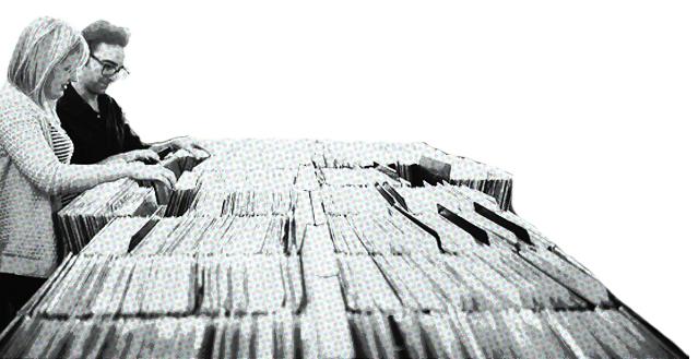 we collect vinyl. -