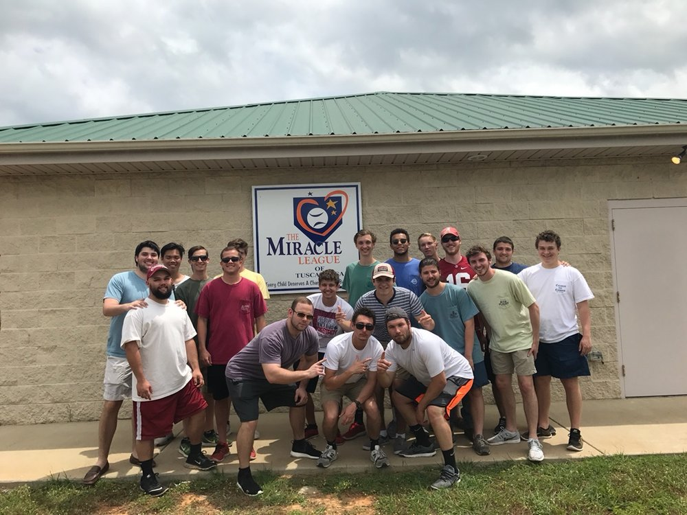 Brothers supporting Miracle League