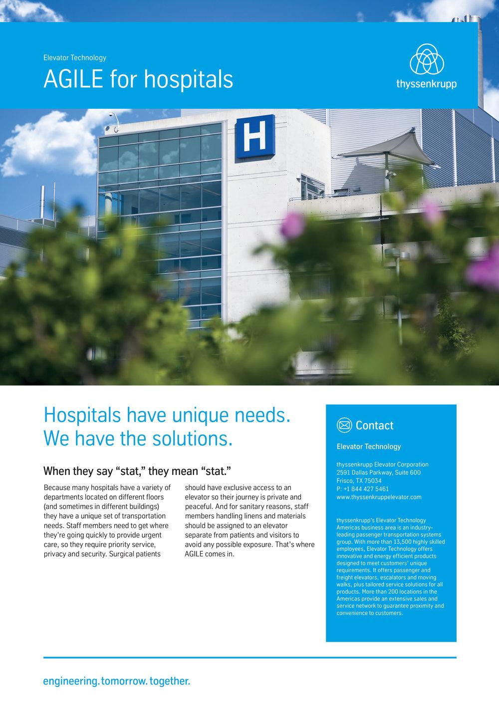 Hospital cut sheet