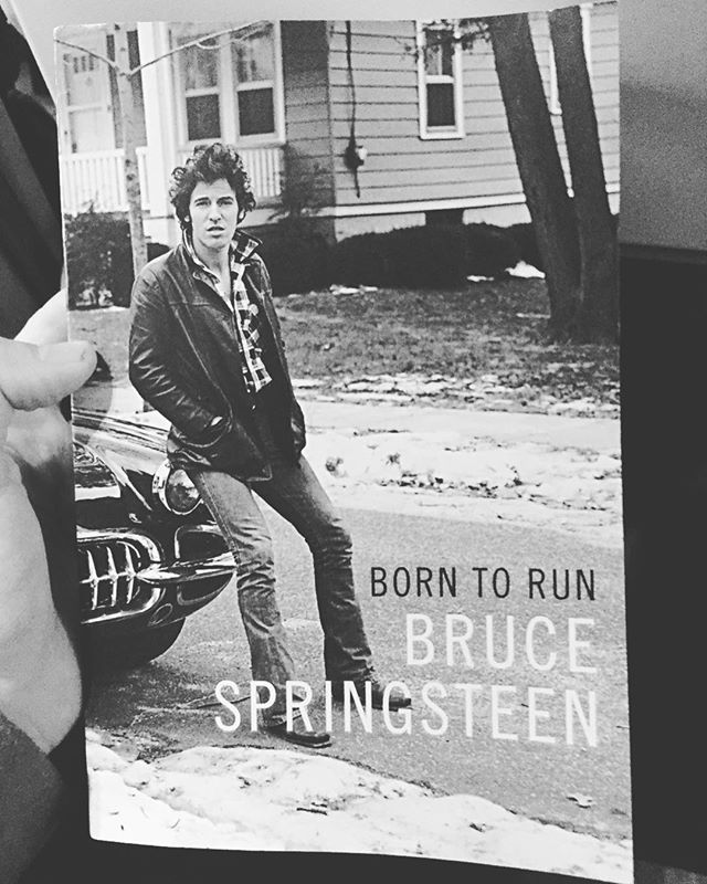 Bit of light reading for the epic slog home. Bought it in New Jersey. Seemed fitting #theboss