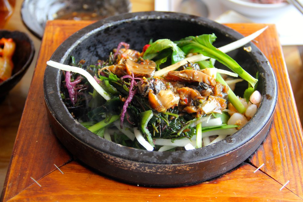 Seafood Bap Bowl, 이매화지혜제주해물밥 (Hae-mul Bap), Jeju Island, South Korea